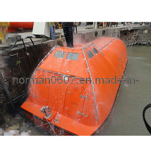 9.35m Length Marine Totally Enclosed Lifeboat, Solas Fiberglass Lifesaving Boat
