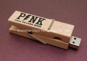 USB Flash drive USB Stick Wood Clip OEM Logo memory Stick Flash Card USB Flash Disk Pendrives USB Flash Memory Card Pen Drive pictures & photos