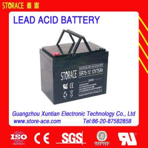 12V AGM Batteries, 12V 75ah Sealed Lead Acid Battery (SR75-12) pictures & photos