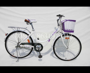 26′ Ladies City Bicycle with Big Plastic Basket (HC-LD-2643) pictures & photos