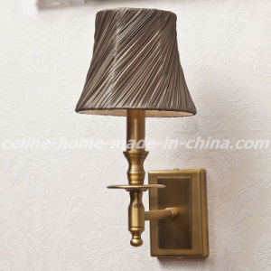 Special Design Iron Wall Lamp with Fabric Shade (SL2118-1) pictures & photos