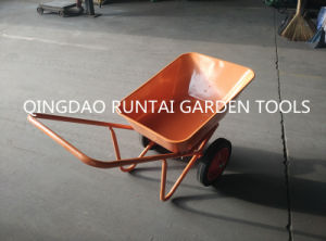 Capacity 65L with Double Solid Wheels Strong Wheel Barrow (WB6410-1) pictures & photos