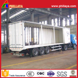 Curtain Side Semi Trailer with Truck Parts pictures & photos