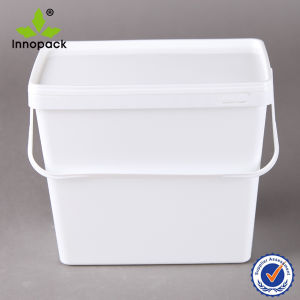 3.7L Rectangular Plastic Container and Square Bucket for Washing Powder or Biscuit pictures & photos