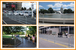 Hot-Dipped Galvanized Used Crowd Control Barriers pictures & photos