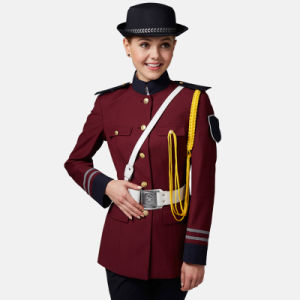 Custom Long Sleeve Female Security Uniform Jacket pictures & photos