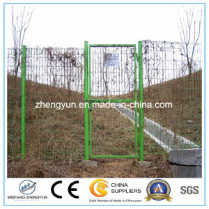 Round Tube Welded Wire Mesh Fence Garden Gate Door pictures & photos