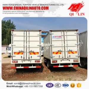 Chinese 3 Ton Mini Container Van Truck with Rear Door pictures & photos