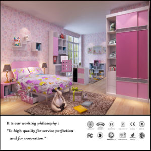Pink Colour Bedroom Furniture with Wardrobe (ZH-1037) pictures & photos