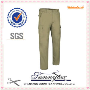 Mens Casual Basic Long Cargo Pants No Accessory pictures & photos