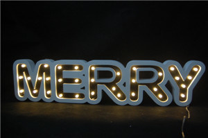 Merry Word Light with LED Christmas Decoration Wood Light pictures & photos