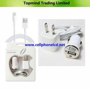 3 in 1 Mini USB Charger Kit for Apple iPhone 5 iPad Mini iPad 4 with USB Cable pictures & photos