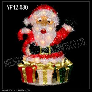 Red Tinsel Christmas Santa Clause (YF12-080)