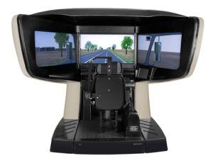 Three Screens Standard Car Driving Simulator