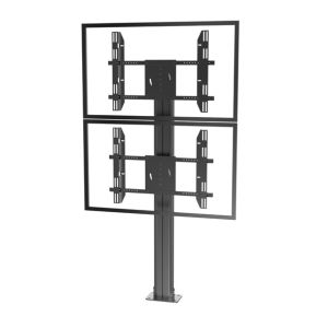 "Public TV Floor Stand Floormount Base Dual Screen 30-60"" (AVA 201E) pictures & photos"