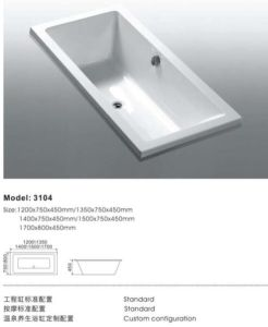 Best Price Insert Type Jacuzzi Bathtubs pictures & photos
