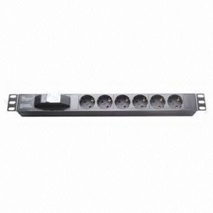 Power Distribution Unit, 6-Way Socket, 16A, 19-Inch 1u Network Cabinet Size of PDU pictures & photos