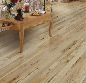 Natural Color Solid Oak Parquet Floor / Hardwood Flooring