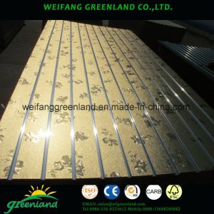 High Quality Melamined MDF Slot Board with Alunimum Profile for Market or Shops pictures & photos