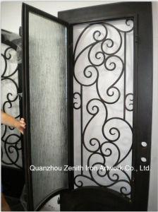 Single Wrought Iron Entrance Door (ZY-IR063)