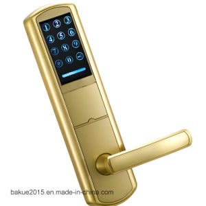 High Security Electronic Door Card Lock Digital Lock Gold Painted pictures & photos
