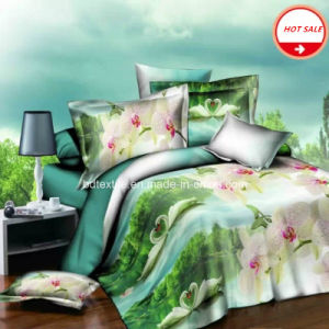 100%Polyester Microfiber Brushed Fabric for Bedding Sheet 3D pictures & photos