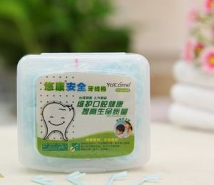 High Quality Safety Children Plastic Dental Floss Pick Toothpick pictures & photos