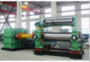 Rubber Sheeting Mill with Stock Blender / Xk-710 Rubber Mixing Mill