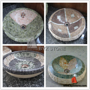 Mosaic Marble Stone Sinks / Wash Basin pictures & photos