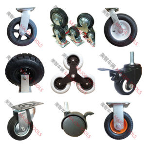 125X32mm TPR Caster Wheel with 75X45mm Mounting Plate pictures & photos