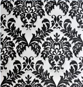 Vinyl Wallpaper with Damascus Flower (53cm*10m 90205) pictures & photos