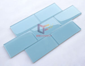 Blue Color Mosaic Tile, Bathroom Glass Tile Mosaic (GT005) pictures & photos