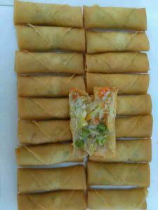 HACCP Brc Certifacte Tsingtao Vegetable 20g/piece Spring Rolls in Frozen Cookin pictures & photos