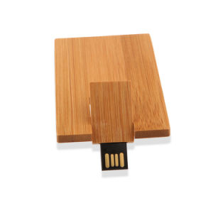 Free Logo Printing on Wooden Card USB Flash Drive 8GB Credit Card Pendrive 16GB pictures & photos