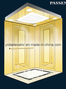 Passenger Elevator with Mirror Etched Stainless Steel (JQ-N027) pictures & photos