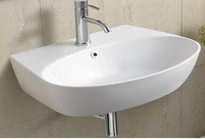 Sanitary Wares Ceramic Wall Hung Bathroom Wash Basin (1072) pictures & photos