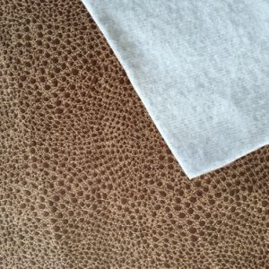 320gram Suede Fabric with Leather Looking (LXP001) pictures & photos