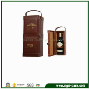 Hot Sale Brown Packing Wooden Box for Wine pictures & photos