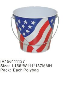 High Quality Tin Ice Bucket with Handle for Cool Beer in Summer pictures & photos