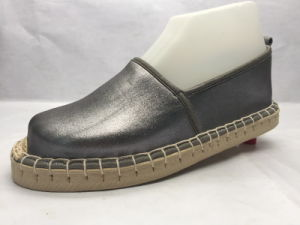 Fashion and Concise All-Match Gray Jute Lady Shoes (23LG1711) pictures & photos
