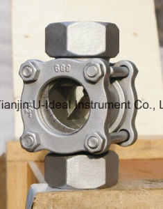 Float Sight Glass/Flushing Port Flanged Rotate Wiper Sight Glass pictures & photos
