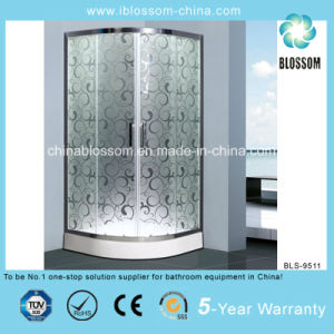 ABS Tray Acid Glass Shower Enclosure with Aluminium Frame (BLS-9511) pictures & photos