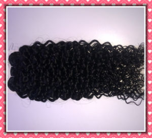 "High Quality 100% Human Hair Weaving Jerry Curl 16"" Brown Color #1b (HHJC161B) pictures & photos"