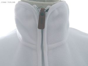 Women White Micro Fleece Printed Fleece Elastic Fabric Jacket pictures & photos