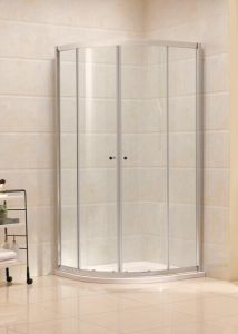 Tempered Glass Aluminium Frame Sliding Corner Shower Cubicle (B11) pictures & photos