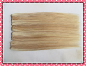 "High Quality 100% Human Hair Weave Silk Straight Hair 20"" Piano Color 100g pictures & photos"