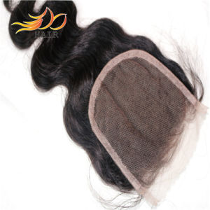 100% Brazilian Virgin Hair Remy Human Hair Lace Closure pictures & photos
