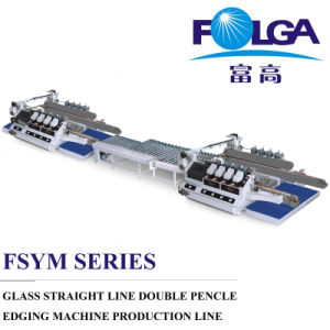 Glass Straight Line Double Edging Machine Production Line (FSM2016BL+FZT1620+FSM2020BL) pictures & photos