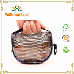 China Wholesale Market Clear PVC Mesh Zipper Cosmetic Bag pictures & photos