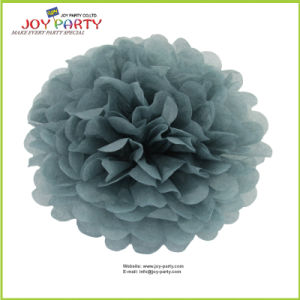 Grey Paper POM Poms for Party Decoration